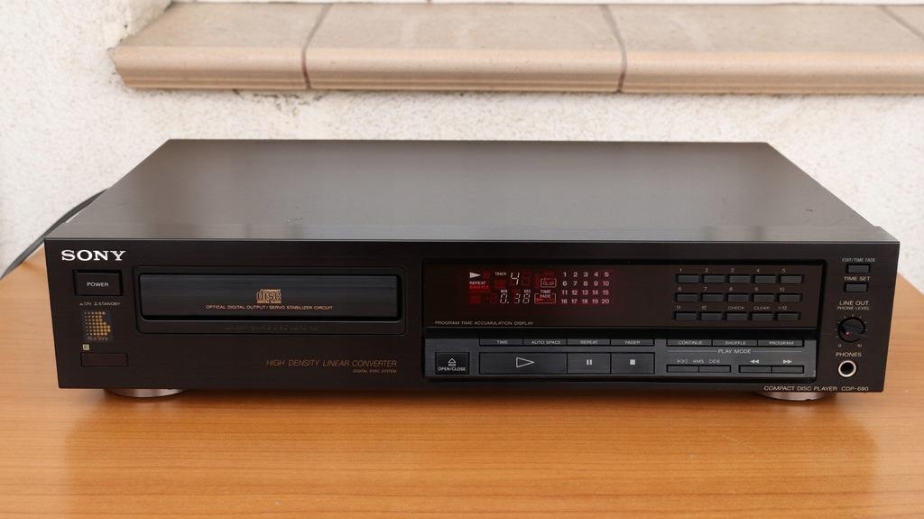 ODTWARZACZ CD SONY CDP-690 1991 KSS-150A CZYTA CDR