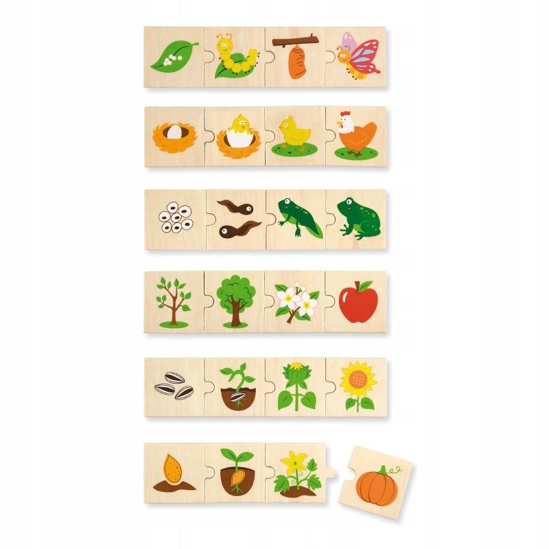 puzzle Viga Toys rosące zwierzęta Montessori