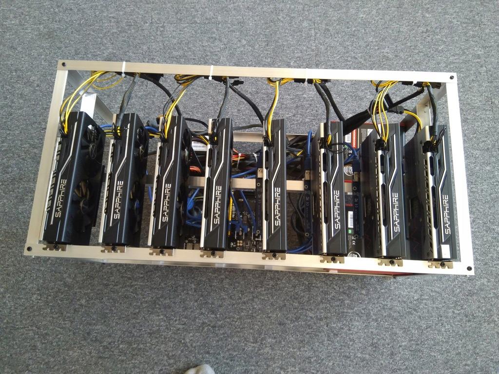 Koparka kryptowalut 8x RX570 4GB / ssd120