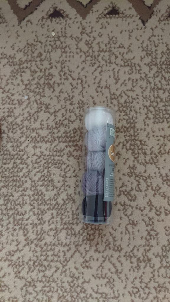 Włóczka Akryl set 5 kolorów 5 x 10 g 25m szary