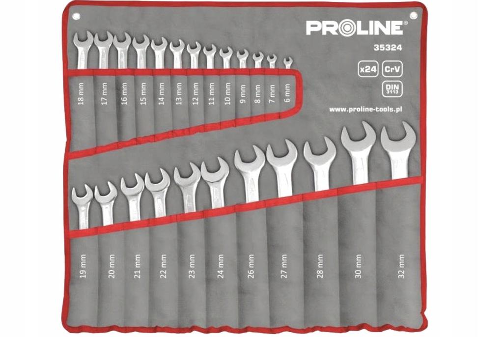 Klucze płasko-oczkowe PROLINE 6-32mm 24szt