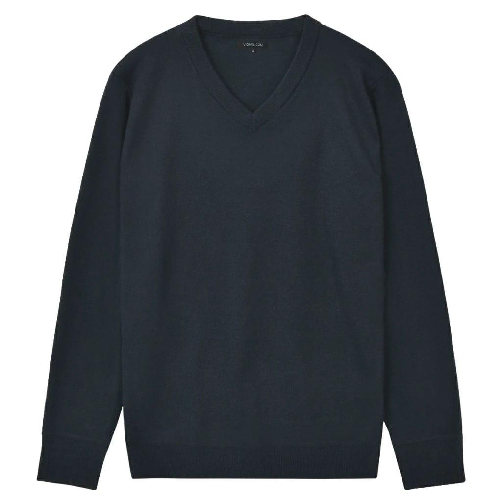 VidaXL 5 swetrów męskich z dekoltem w serek, grana