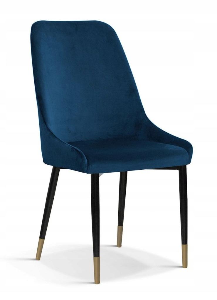 Krzesło OLIVIER M granat/ noga czarno-złota/ BL86
