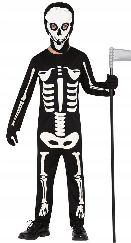Fiestas Guirca szkielet kostiumu poliester czarny/