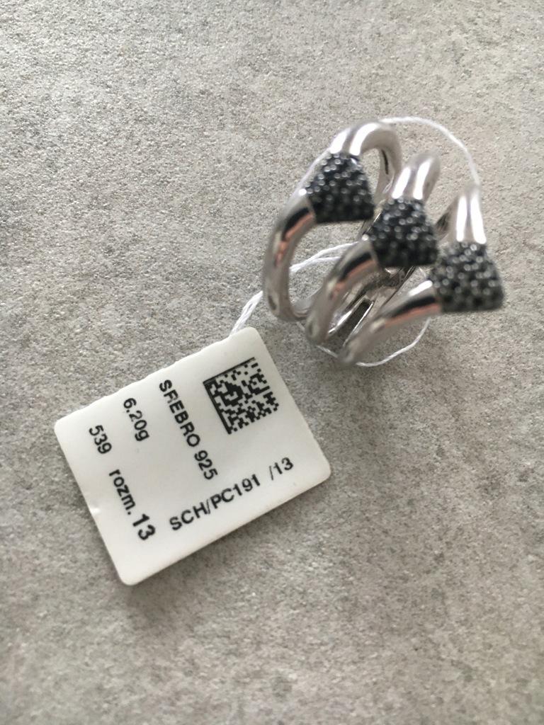 Pierścionek W.KRUK srebro 925 nowy SPINELE 329zl