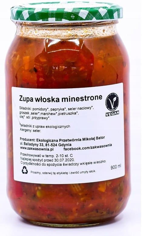 ZUPA WARZYWNA MINESTRONE BIO 900 ml - ZAKWASOWNIA