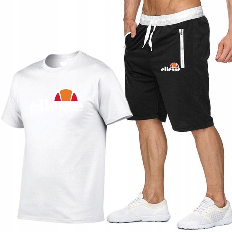T-shirt BIAŁY+ Spodenki Ellesse R XL MPA WYGODNE
