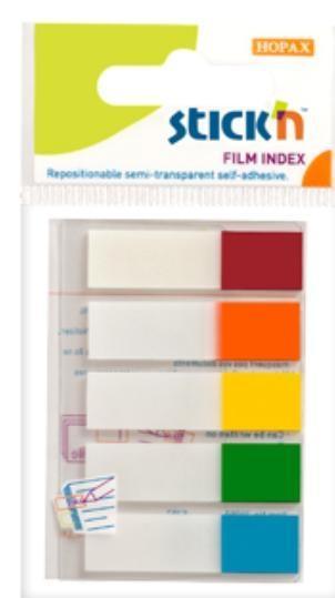 Zakładki indeksujące samoprzylepne mix 5 kol. neon