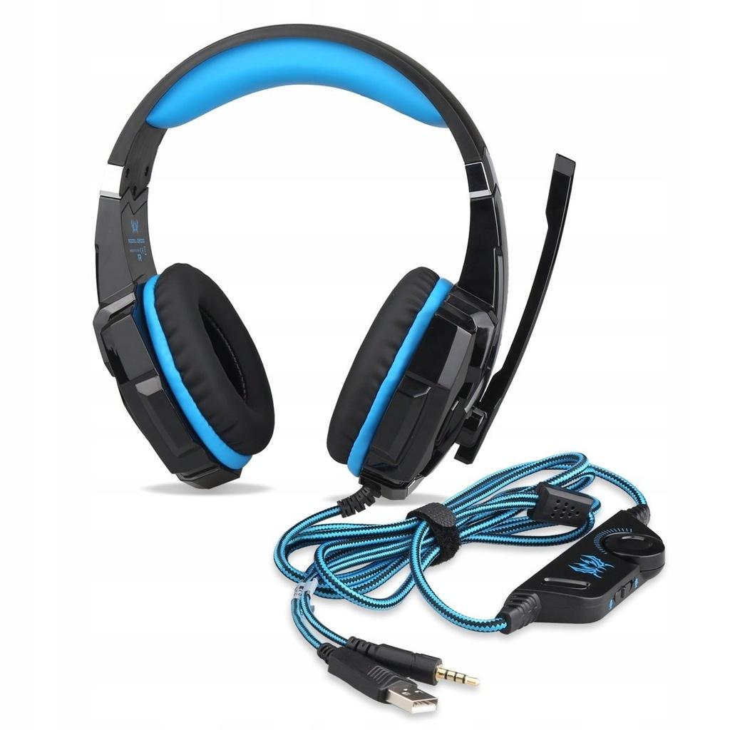 Punicok G9000 - Słuchawki gamingowe USB AUX