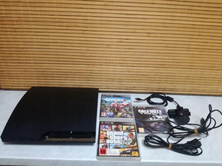 KONSOLA PS3 (320GB)+KAMERKA+3GRY OD LOOMBARD