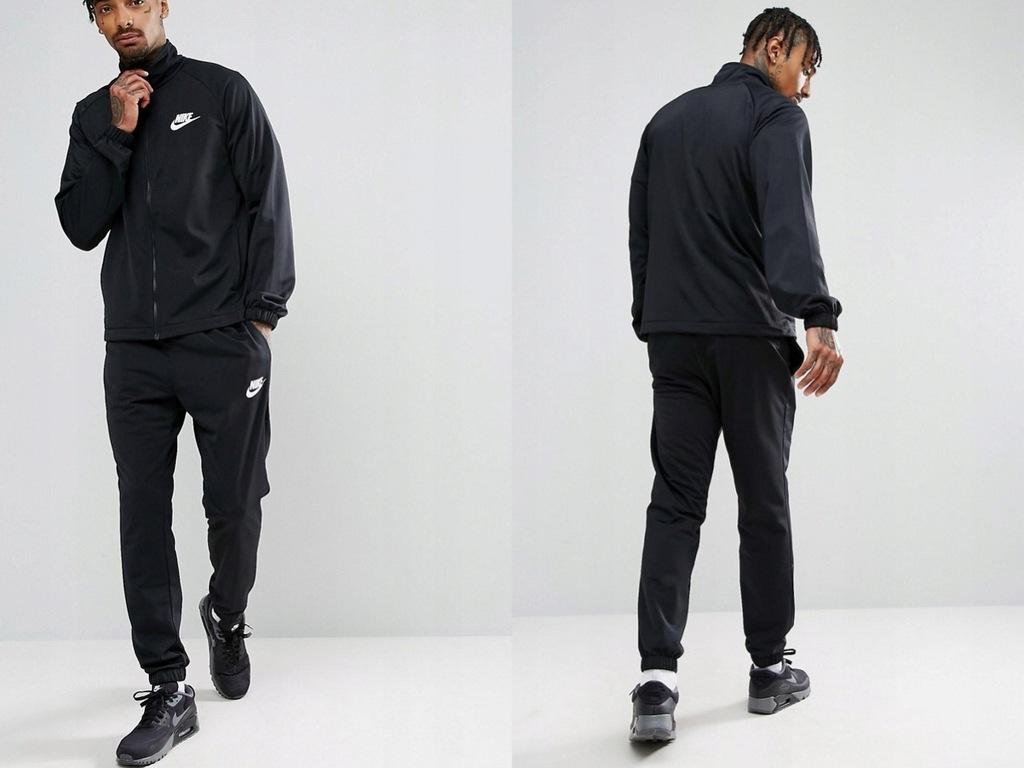 Nike -861780-010 Czarne spodnie dresowe XL