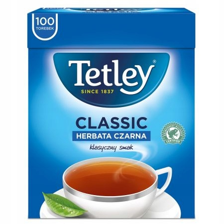 Classic Herbata czarna TETLEY 100x1,5g