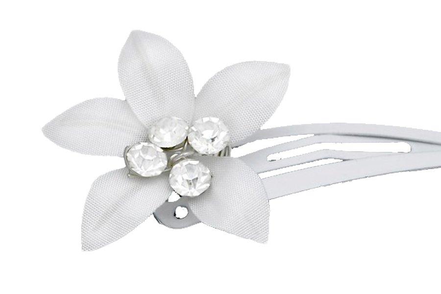 Przypinka komunijna do włosów spinka kwiatek 016