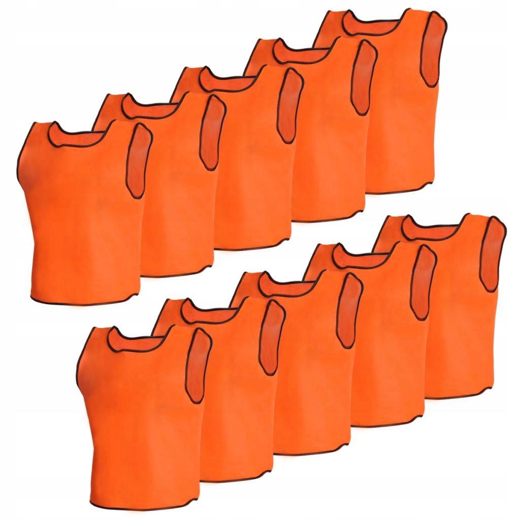 10 par bezrękawników sportowych Senior pomarańczow