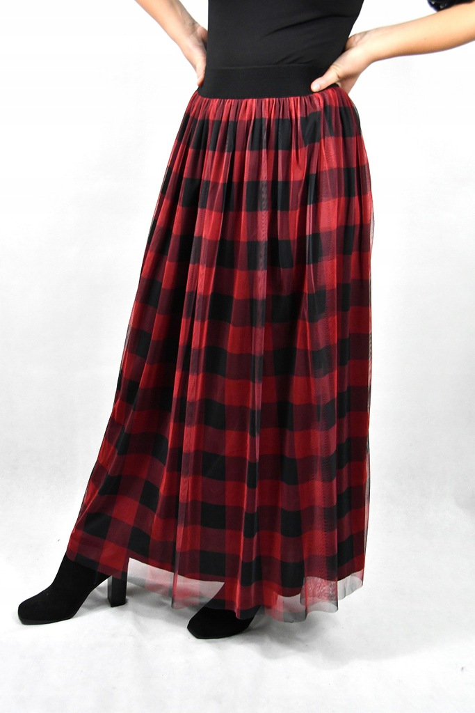 Spódnica tiulowa w kratkę czerwona Hit 8691719840