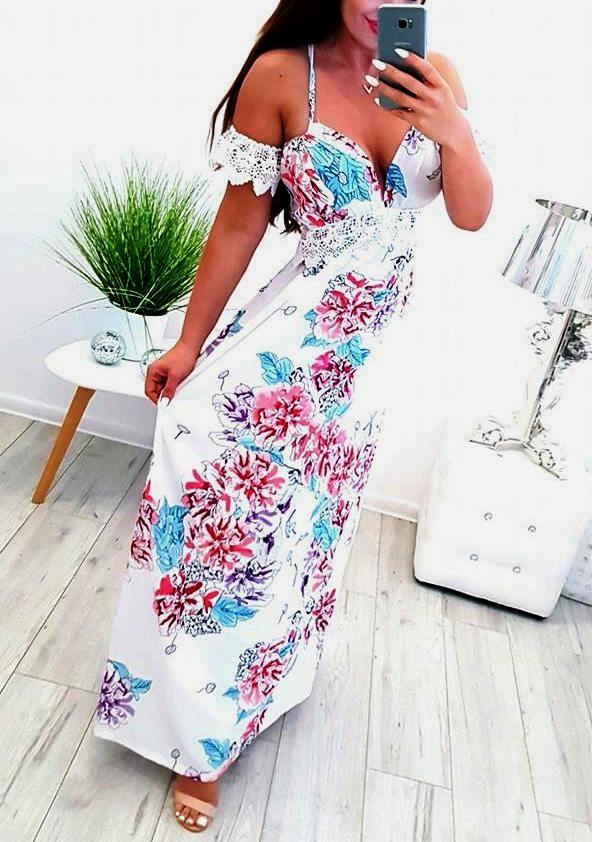 CUDO!!! Piękna i seksowna sukienka maxi . Nowa!
