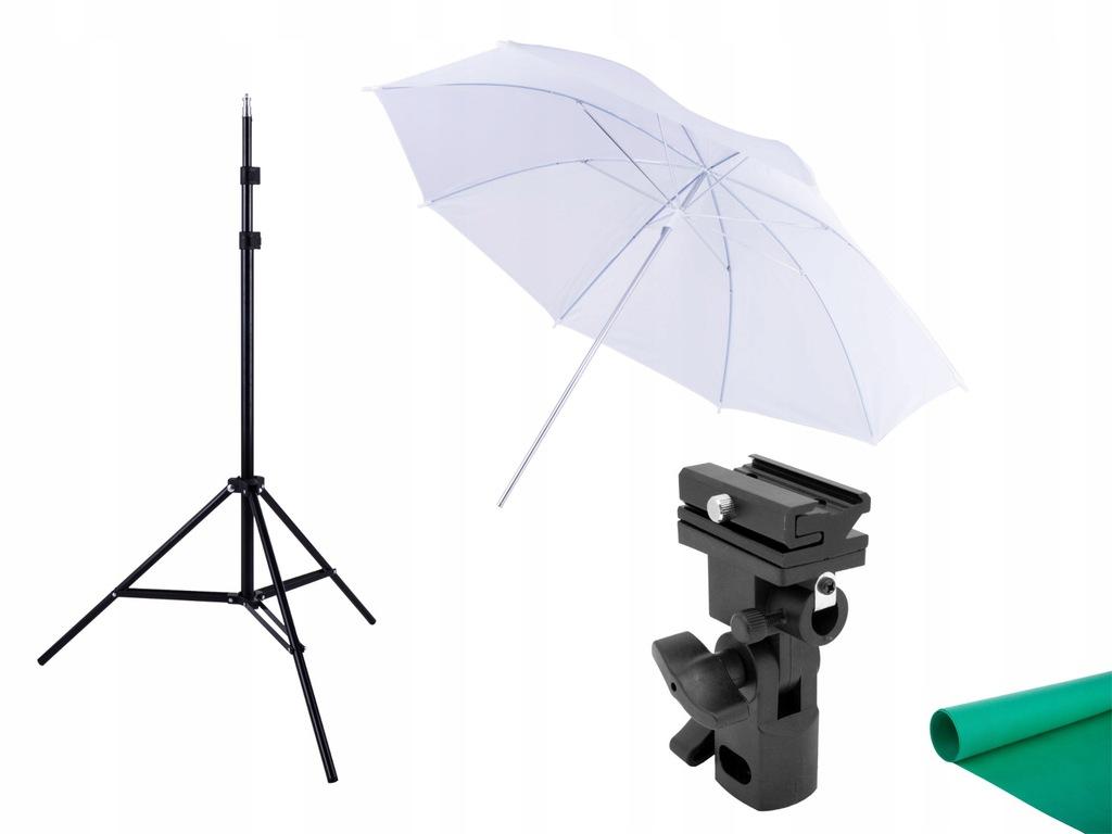 ZESTAW REPORTERSKI uchwyt + parasolka + statyw osw
