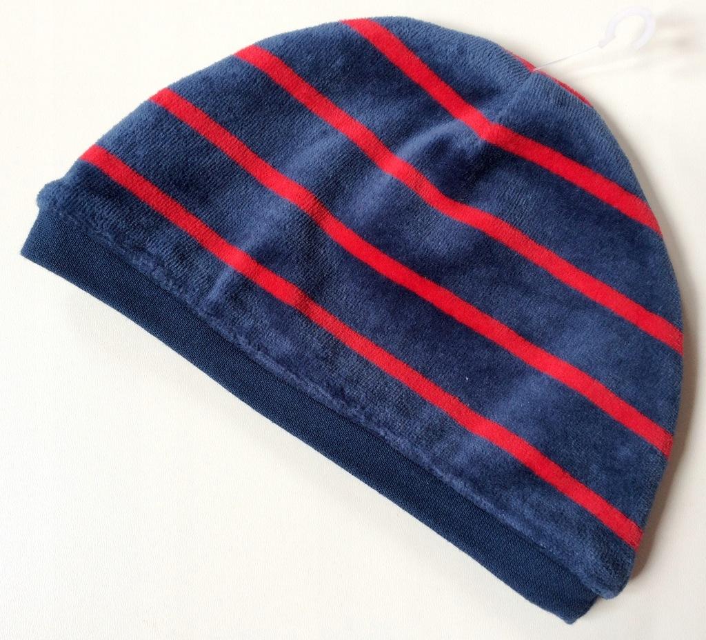 MOTHERCARE czapka welur 68/74 6-9m