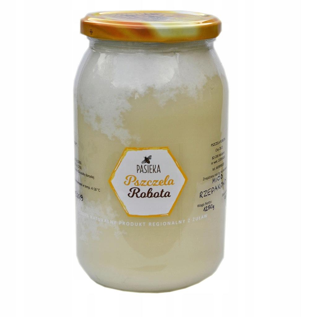 Miod rzepakowy, bardzo aromatyczny, super smak