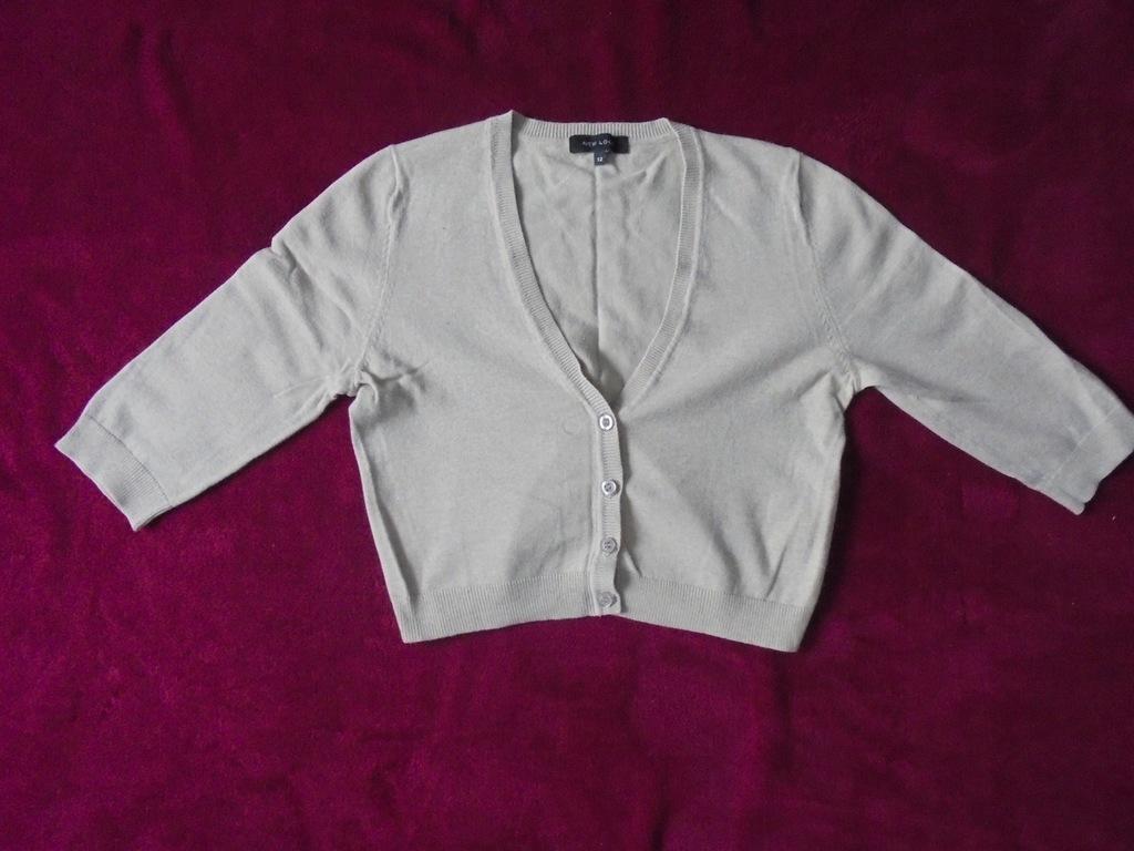 BOLERKO sweterek beżowy 12/42-44 New Look