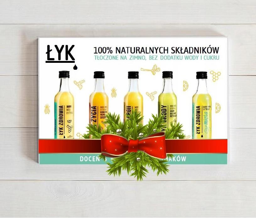 Imbir, miód, cytryna, ŁYK ZDROWIA 5x50ml