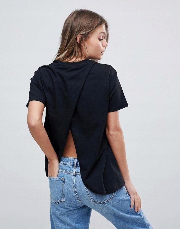 Aso Czarny T Shirt Z Rozcieciem Na Plecach 36 7674821497 Oficjalne Archiwum Allegro