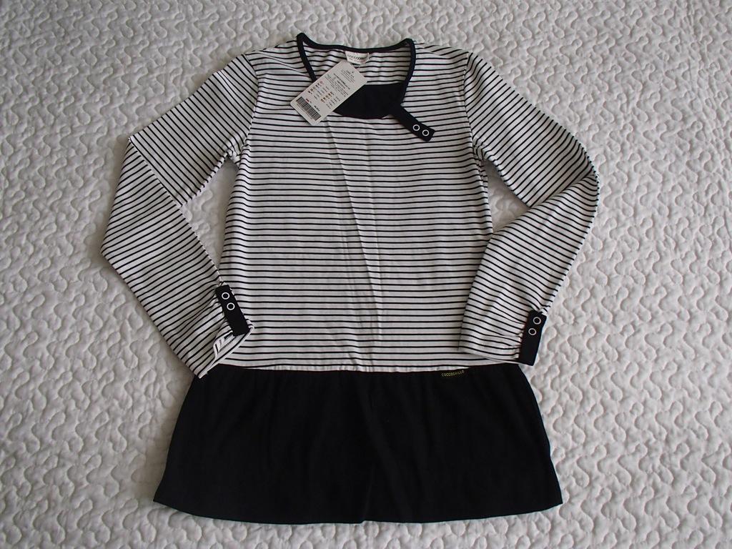 Coccodrillo sukienka czarne paski nowa roz 158