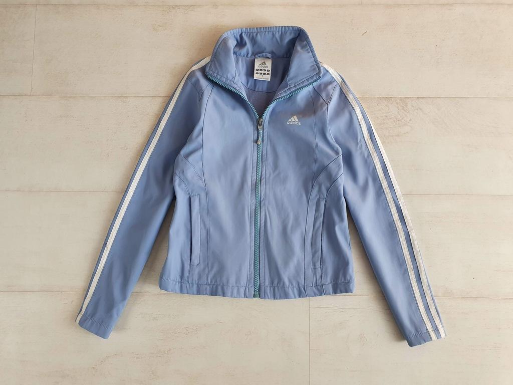ADIDAS błękitna kurtka dla dziewczynki 7 lat