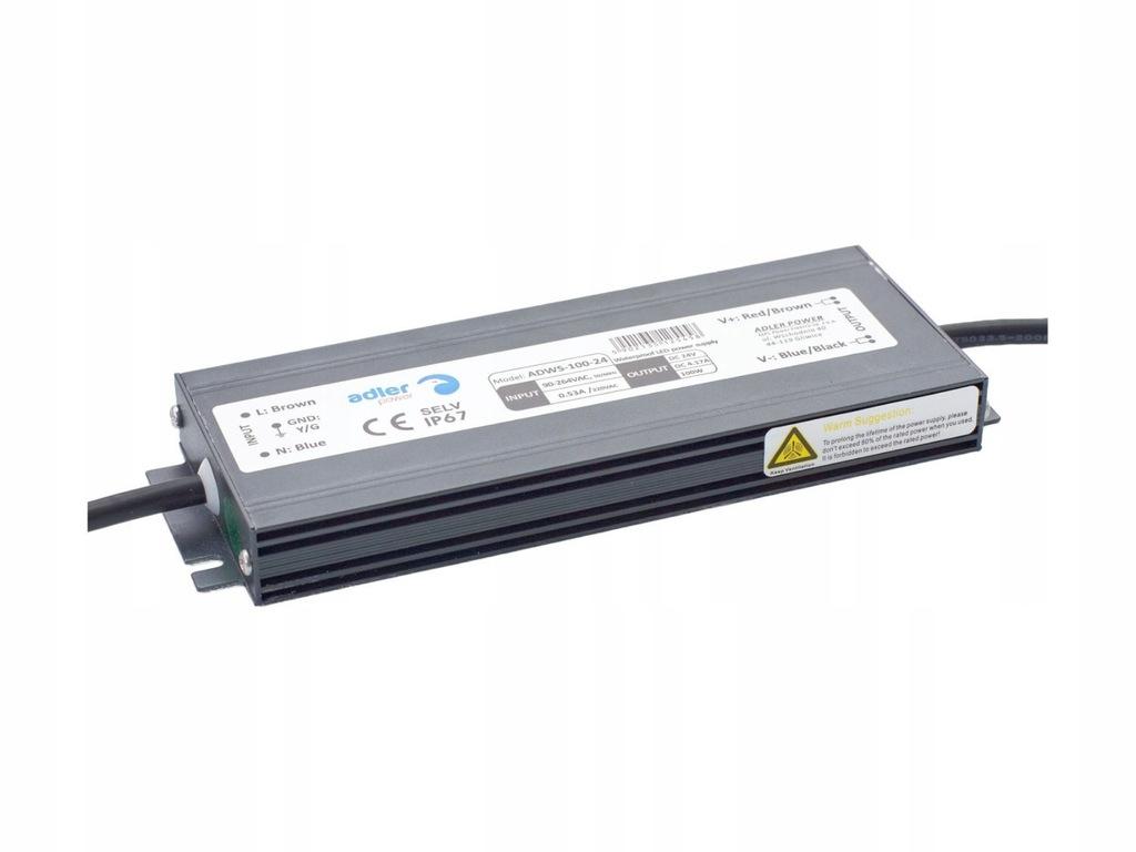 Zasilacz LED ADWS Hermetyczny 12V 8.3A 100W Adler