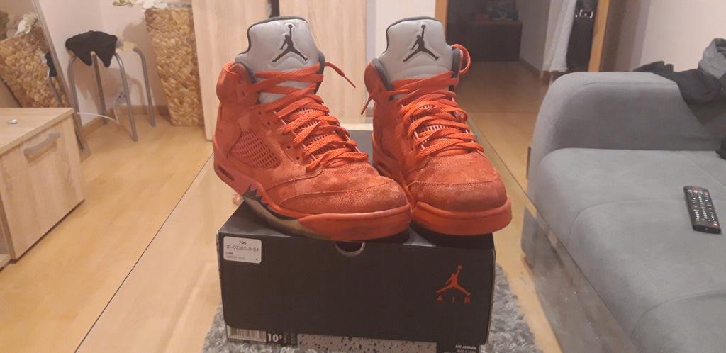 Buty Nike Air Jordan 5 Czerwone Suede 136027 602