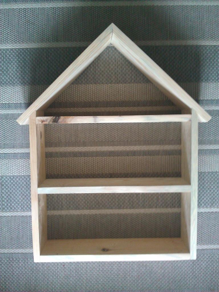 Półka regał domek drewniana styl skandynawski