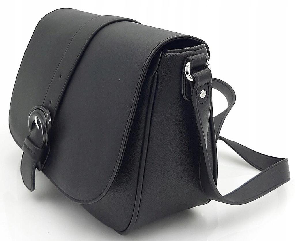 Czarna pojemna torebka listonoszka DAVID JONES