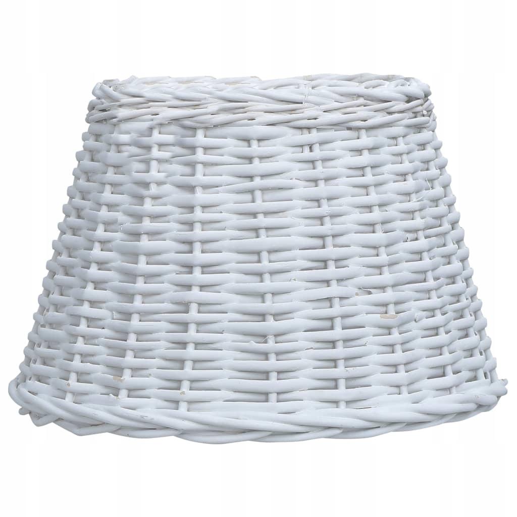 Wiklinowy klosz, 45x28 cm, biały