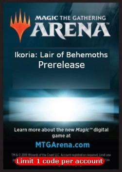 MtG Arena: Kod Prerelease-Ikoria + gratis