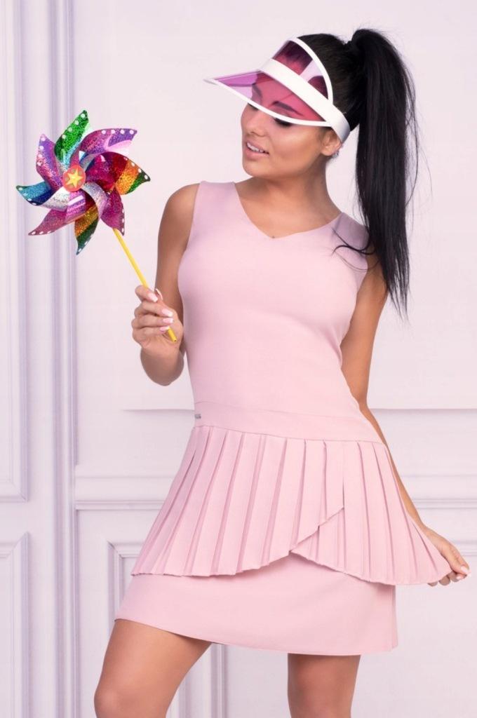 Lato - sukienka w kolorze wrzosowym rozmiar XL
