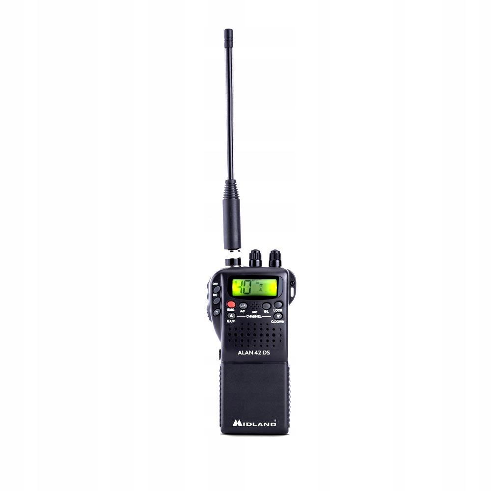 ALAN 42 DS CB RADIO RĘCZNE ADAPTER AUTO+AKCESORIA