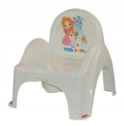 nocnik krzesełko z pozytywką Księżniczka biały