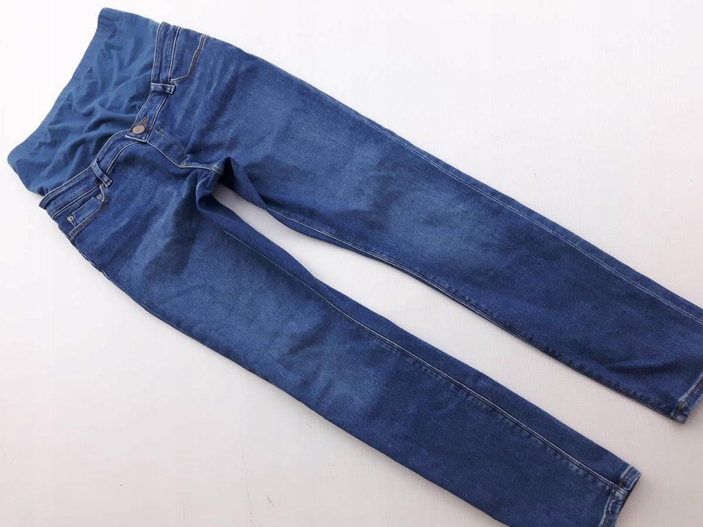 ASOS jeansowe SPODNIE RURKI ciążowe _ MODNE 38 M