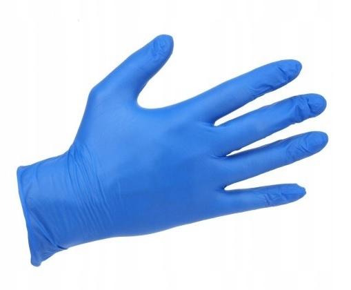 RĘKAWICE NITRYLOWE A'100 S niebieskie