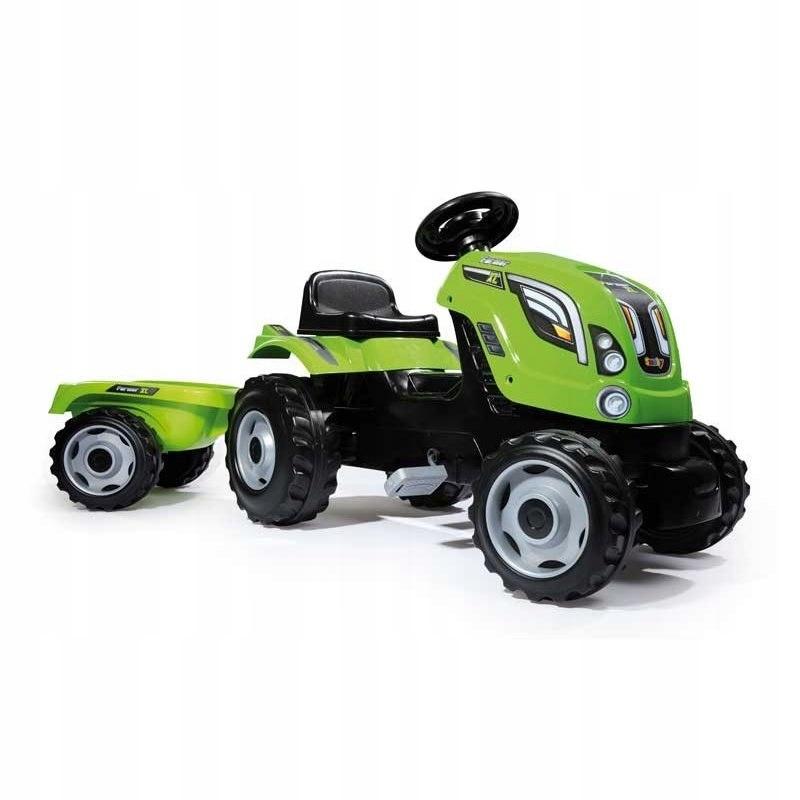 SMOBY Traktor na pedały Farmer XL z przyczepą - Zi
