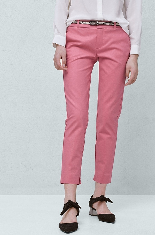 MANGO, spodnie, cygaretki, różowe, 36 7559867461