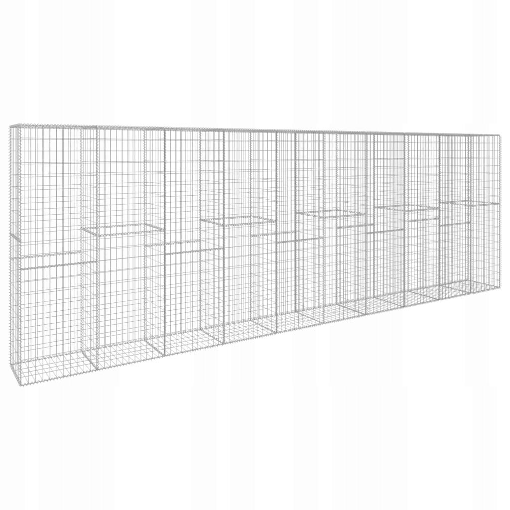 Ściana gabionowa z pokrywą, galwanizowana stal, 60