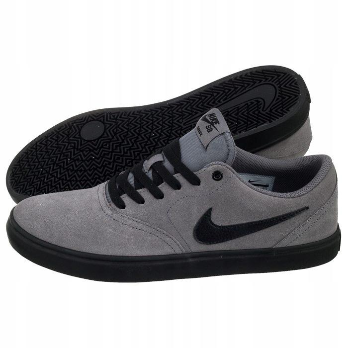 Buty Męskie Nike SB Check Solar 843895 011 Szare