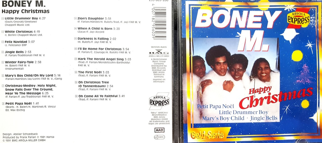 BONEY M. HAPPY CHRISTMAS CD