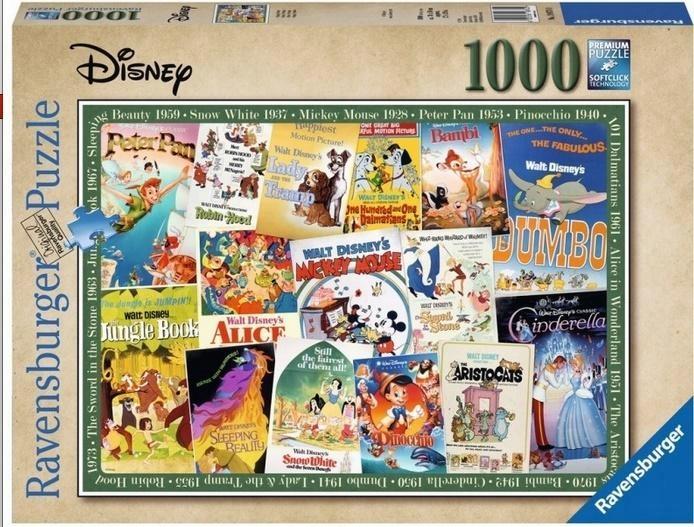 Puzzle 1000 Filmowe Plakaty Disneya Ravensburger