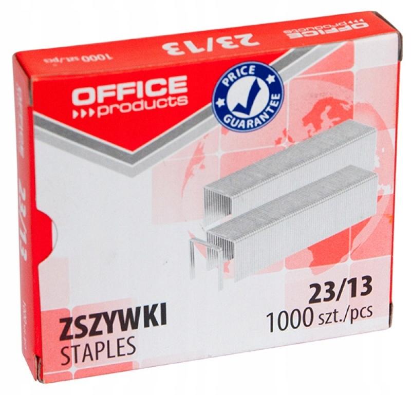 Zszywki OFFICE PRODUCTS 23/13 1000szt ocynkowane