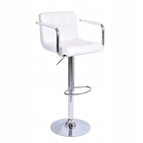 Krzesło barowe MONTE białe