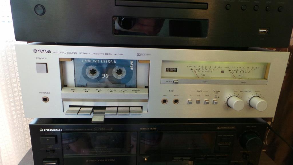Yamaha K-360 magnetofon deck,ładny stan Wa-wa