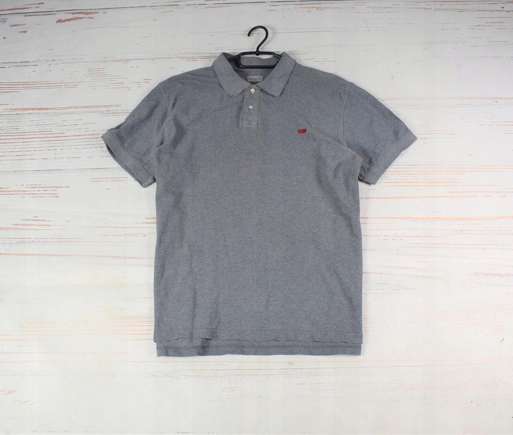 LEVI'S koszulka polo szara oryginał XL/XXL