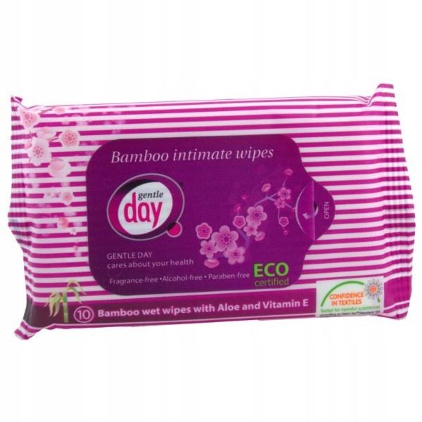 Bamboo chusteczki do higieny intymnej eco 10szt